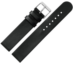Cares.Watch Armband Leder schwarz