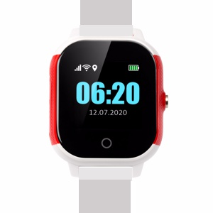 Cares.Watch Profi weiß/rot mit Metall-Armband mit Magnetverschluss