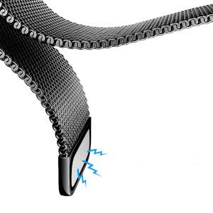 Cares.Watch Armband Metall schwarz  mit Magnetverschluss