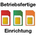 Betriebsfertige Aktivierung der SIM-Karte